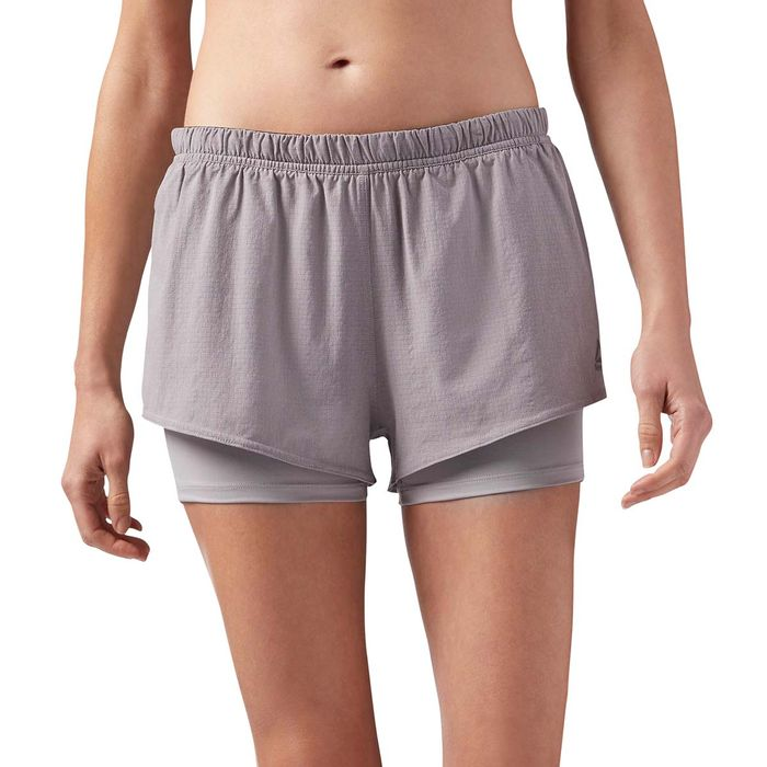 7e499469 Pantaloneta de mujer para correr reebok 2-1 short referencia ...