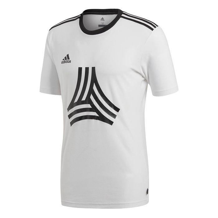 : adidas Camiseta de fútbol para hombre, manga