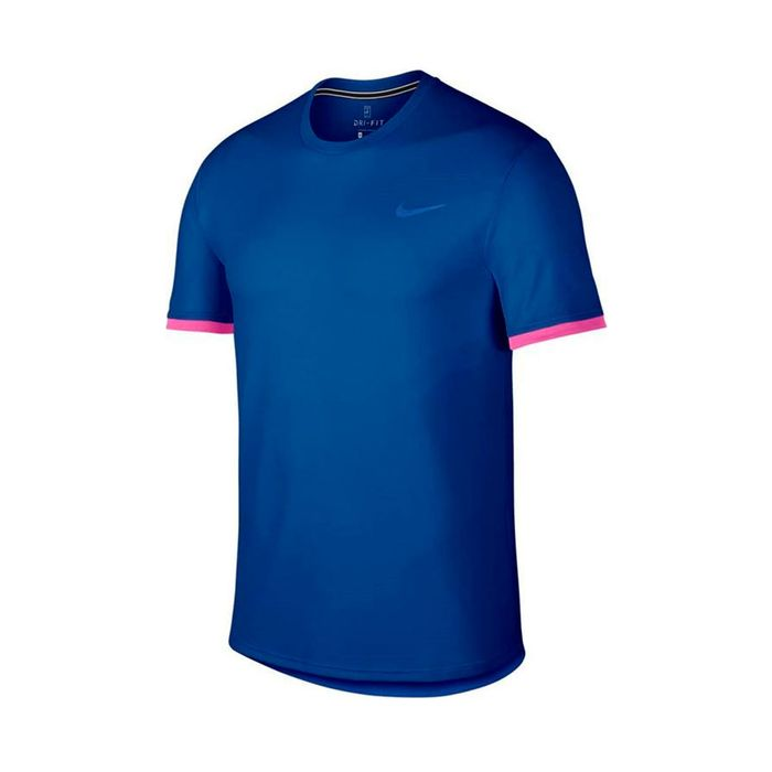 edb21336d Camiseta de hombre para tenis nike m nkct dry top ss clrblk Prochampions