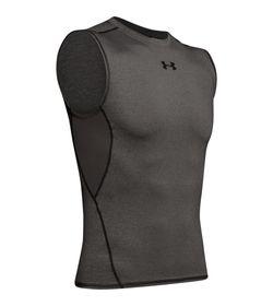 Camiseta-Manga-Sisa-under-armour-para-hombre-Ua-Hg-Armour-Sl-para-entrenamiento-color-gris.-Frente-Sin-Modelo
