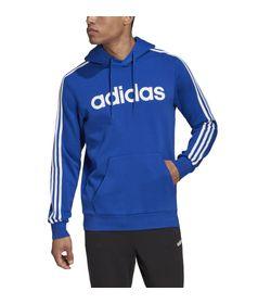 Buzo-adidas-para-hombre-E-3S-Po-Fl-para-moda-color-azul.-Frente-Sobre-Modelo