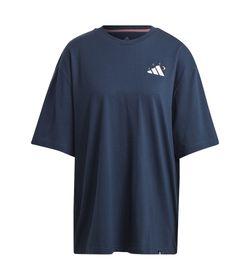 Camiseta-Manga-Corta-adidas-para-mujer-Mandala-Bos-W-para-entrenamiento-color-azul.-Frente-Sin-Modelo