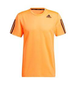 Camiseta-Manga-Corta-adidas-para-hombre-Aero3S-Tee-Pb-para-entrenamiento-color-naranja.-Frente-Sin-Modelo