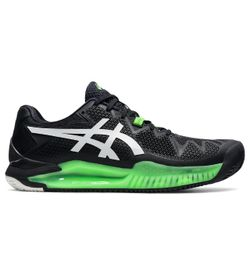 Tenis-asics-para-hombre-Gel-Resolution-8-Clay-para-tenis-color-negro.-Lateral-Externa-Derecha