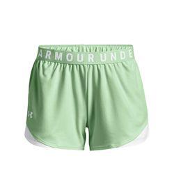 Pantaloneta-under-armour-para-mujer-Play-Up-Shorts-3.0-para-entrenamiento-color-azul.-Frente-Sin-Modelo