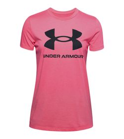 Camiseta-Manga-Corta-under-armour-para-mujer-Live-Sportstyle-Graphic-Ssc-para-entrenamiento-color-rosado.-Frente-Sin-Modelo