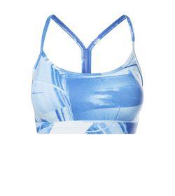 Top-reebok-para-mujer-Skinny-Bra---Flat-On-Back-para-entrenamiento-color-azul.-Frente-Sin-Modelo