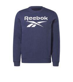 Buzo-reebok-para-hombre-Ri-Flc-Bl-Crew-para-entrenamiento-color-azul.-Frente-Sin-Modelo