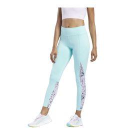 Licra-reebok-para-mujer-Wor-Run-Aop-Tight-para-correr-color-multicolor.-Frente-Sobre-Modelo