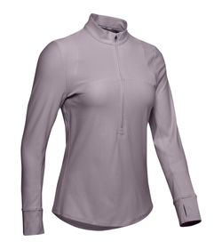 Buzo-under-armour-para-mujer-Ua-Qualifier-Half-Zip-para-correr-color-morado.-Frente-Sin-Modelo