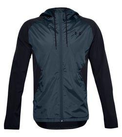 Chaqueta-under-armour-para-hombre-Stretch-Woven-Hooded-Jacket-para-entrenamiento-color-negro.-Frente-Sin-Modelo