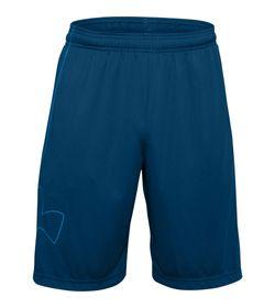 Pantaloneta-under-armour-para-hombre-Ua-Novelty-Tech-Shorts-para-entrenamiento-color-azul.-Frente-Sin-Modelo