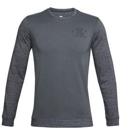 Camiseta-Manga-Larga-under-armour-para-hombre-Ua-Sportstyle-Terry-Ko-Crew-para-entrenamiento-color-gris.-Frente-Sin-Modelo