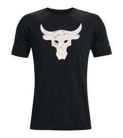 Camiseta-Manga-Corta-under-armour-para-hombre-Ua-Pjt-Rock-Brahma-Bull-Ss-para-entrenamiento-color-negro.-Frente-Sin-Modelo