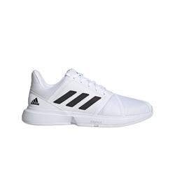 Tenis-adidas-para-hombre-Courtjam-Bounce-M-para-tenis-color-blanco.-Lateral-Externa-Derecha