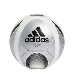 Balon-adidas-para-hombre-Starlancer-Plus-para-futbol-color-gris.-Frente-Sin-Modelo