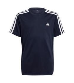 Camiseta-Manga-Corta-adidas-para-niño-B-3S-T-para-moda-color-negro.-Frente-Sin-Modelo