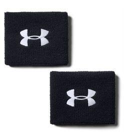 Muñequeras-under-armour-para-hombre-Ua-Performance-Wristbands-para-entrenamiento-color-negro.-Frente-Sin-Modelo