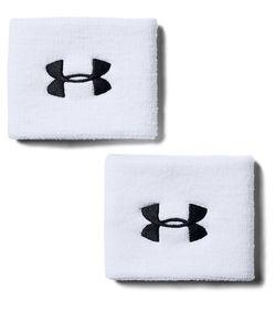 Muñequeras-under-armour-para-hombre-Ua-Performance-Wristbands-para-entrenamiento-color-blanco.-Frente-Sin-Modelo