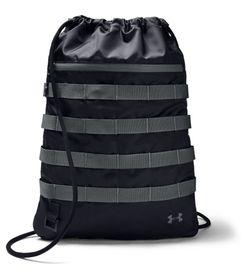 Gym-Sack-under-armour-para-hombre-Ua-Sportstyle-Sackpack-para-entrenamiento-color-negro.-Frente-Sin-Modelo