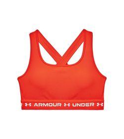 Top-under-armour-para-mujer-Ua-Crossback-Mid-Bra-para-entrenamiento-color-cafe.-Frente-Sin-Modelo