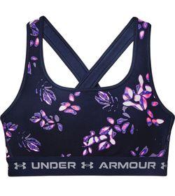 Top-under-armour-para-mujer-Ua-Crossback-Mid-Print-para-entrenamiento-color-azul.-Frente-Sin-Modelo