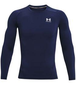 Camiseta-De-Compresion-under-armour-para-hombre-Ua-Hg-Armour-Comp-Ls-para-entrenamiento-color-azul.-Frente-Sin-Modelo