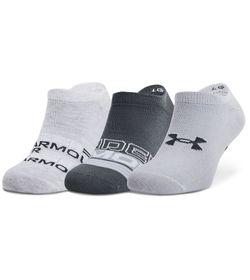 Medias-3-Pack-under-armour-unisex-Ua-Essential-Ns-3-Pk-para-entrenamiento-color-gris.-Frente-Sin-Modelo