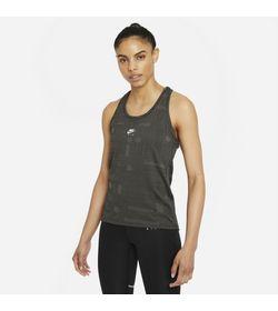 Camiseta-Manga-Sisa-nike-para-mujer-W-Nk-Air-Df-Tank-para-correr-color-negro.-Frente-Sobre-Modelo