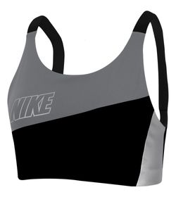 Top-nike-para-mujer-Nike-Swoosh-Mtlc-Logo-Bra-Pad-para-entrenamiento-color-negro.-Frente-Sin-Modelo