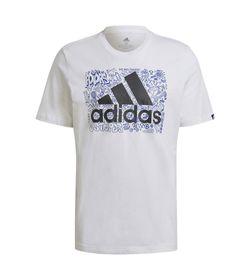 Camiseta-Manga-Corta-adidas-para-hombre-M-Ddlbmb-L-T-para-moda-color-blanco.-Frente-Sin-Modelo