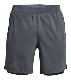 Pantaloneta-under-armour-para-hombre-Ua-Launch-Sw-7-2N1-Short-para-correr-color-gris.-Frente-Sin-Modelo