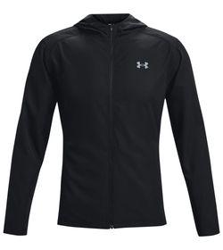 Chaqueta-under-armour-para-hombre-Ua-Outrun-The-Rain-Jacket-para-correr-color-negro.-Frente-Sin-Modelo