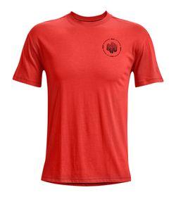 Camiseta-Manga-Corta-under-armour-para-hombre-Ua-Run-Anywhere-Short-Sleeve-para-correr-color-naranja.-Frente-Sin-Modelo