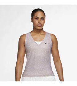 Camiseta-Manga-Sisa-nike-para-mujer-W-Nkct-Df-Vctry-Tank-Pr-para-tenis-color-rosado.-Frente-Sobre-Modelo