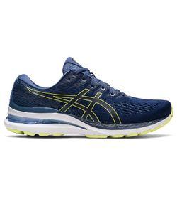 Tenis-asics-para-hombre-Gel-Kayano-28-para-correr-color-azul.-Lateral-Externa-Derecha