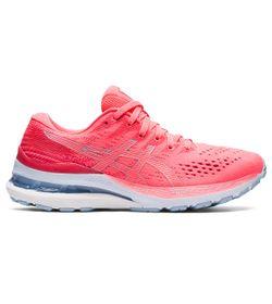 Tenis-asics-para-mujer-Gel-Kayano-28-para-correr-color-rosado.-Lateral-Externa-Derecha