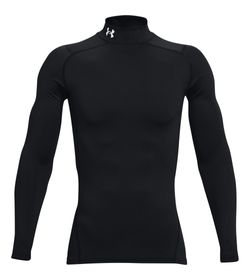 Camiseta-De-Compresion-under-armour-para-hombre-Ua-Cg-Armour-Comp-Mock-para-entrenamiento-color-negro.-Frente-Sin-Modelo