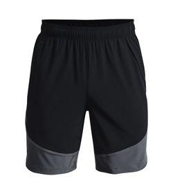 Pantaloneta-under-armour-para-hombre-Ua-Hiit-Woven-Colorblock-Sts-para-entrenamiento-color-negro.-Frente-Sin-Modelo