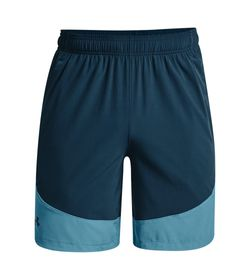 Pantaloneta-under-armour-para-hombre-Ua-Hiit-Woven-Colorblock-Sts-para-entrenamiento-color-azul.-Frente-Sin-Modelo