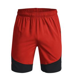 Pantaloneta-under-armour-para-hombre-Ua-Hiit-Woven-Colorblock-Sts-para-entrenamiento-color-naranja.-Frente-Sin-Modelo