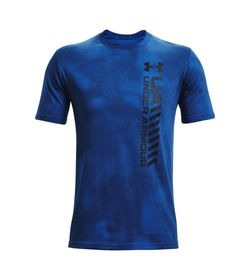 Camiseta-Manga-Corta-under-armour-para-hombre-Ua-Vrtcl-Afterburn-Echo-Ss-para-entrenamiento-color-azul.-Frente-Sin-Modelo