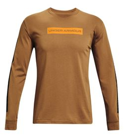 Camiseta-Manga-Larga-under-armour-para-hombre-Ua-21230-Swerve-Ls-para-entrenamiento-color-cafe.-Frente-Sin-Modelo
