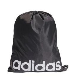 Gym-Sack-adidas-para-hombre-Linear-Gymsack-para-entrenamiento-color-negro.-Frente-Sin-Modelo