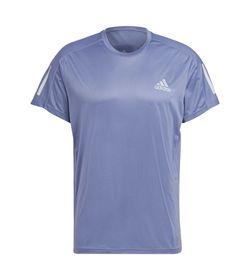 Camiseta-Manga-Corta-adidas-para-hombre-Own-The-Run-Tee-para-correr-color-morado.-Frente-Sin-Modelo