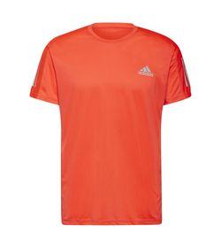 Camiseta-Manga-Corta-adidas-para-hombre-Own-The-Run-Tee-para-correr-color-rojo.-Frente-Sin-Modelo