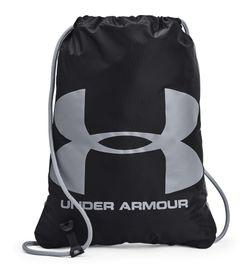 Gym-Sack-under-armour-unisex-Ua-Ozsee-Sackpack-para-entrenamiento-color-negro.-Frente-Sin-Modelo