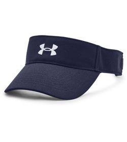 Visera-under-armour-para-mujer-Ua-Play-Up-Visor-para-entrenamiento-color-azul.-Frente-Sin-Modelo