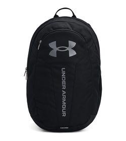 Morral-under-armour-unisex-Ua-Hustle-Lite-Backpack-para-entrenamiento-color-negro.-Frente-Sin-Modelo