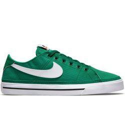 Tenis-nike-para-hombre-Nike-Court-Legacy-Cnvs-para-moda-color-verde.-Lateral-Externa-Derecha